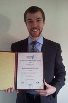 Chris Manning, winner of the International Dupuytren Award 2013 (Basic Research)