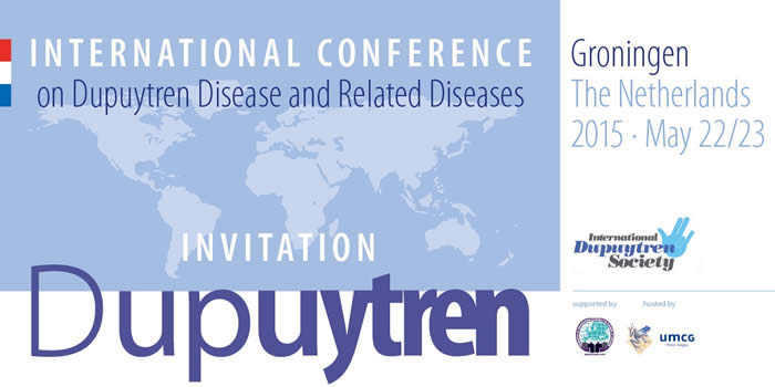 International Dupuytren Symposium 2015 in Groningen, The Netherlands