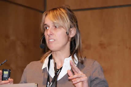 Ilse Degreef lecturing on treatment of Dupuytren's disease at DGH 2010