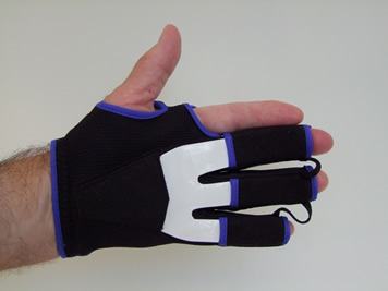 Comfortable night splint for Dupuytren's, palm view (FixxGlove plus)