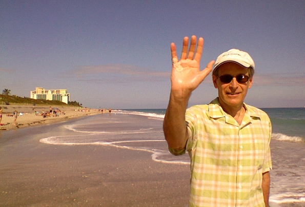 Ron at the beach, 1 hour after he had NA on this right hand.